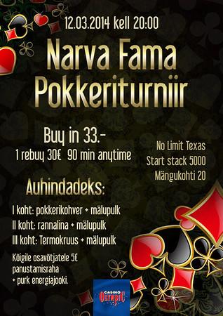 Narva fama Pokkeriturniir, 2014