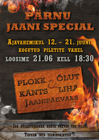OC Pärnu jaanipäeva special, plakat, 2012