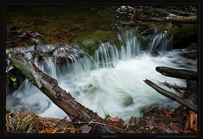 Waterfalls overflow of Hanging Rock Park in NC.