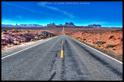The classic highway 163 Monument Valley shot...taken at mile marker 13. This same location is in Forrest Gump and other movies.
