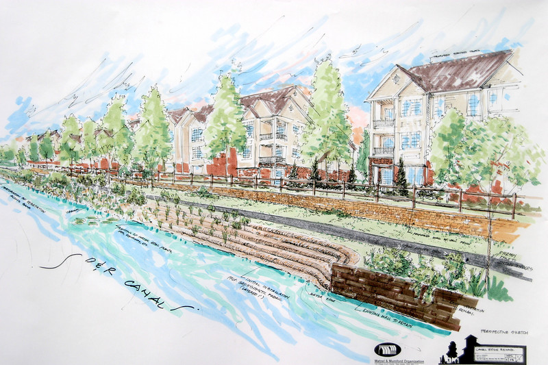 Canal Pointe waterfront work illustrations for rehab of canal edge
