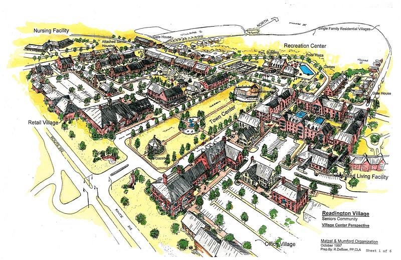 Aerial sketch of Sr Project in Readington NJ