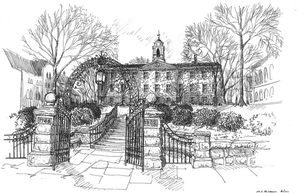 Rutgers University Sketches of Landmarks