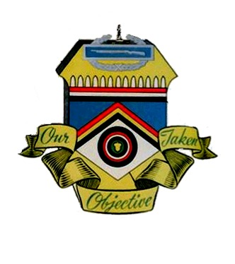 """347th Regimental Crest<br /> """"DARE YOUR BEST""""<br /> """"OUR OBJECTIVE TAKEN""""   <br />   <br /> Devised after combat in Europe.<br /> <br /> When the 347th Infantry first entered combat on December 14, 1944,<br /> its colors bore a crest with a plain field of blue, <br /> and carried the challenge """"DARE YOUR BEST""""....<br /> <br /> Accepting the challenge,<br /> the men of the Regiment fought their way through<br /> France, Belgium and Luxembourg and Germany<br /> adding victory after victory to this field. <br /> <br /> With the unconditional surrendeer of all German Forces,<br /> they added the final answer, """"OUR OBJECTIVE TAKEN""""...<br /> <br /> The crown of the crest is topped with the Combat Infantry Badge. <br /> <br /> Below the crown and above the field of blue<br /> is a row of Dragon's Teeth over German Colors, <br /> commemorating the smashing of the Siegfried Line<br /> and the battle of Germany. <br /> <br /> In the blue field is found a salient, bordered on the left with the colors of France and on the right with the colors of Belgium. <br /> <br /> This salient represents the battle of the Ardennes and carries a background of white for the severe winter fighting. <br /> <br /> In the center of this white field is the """"Golden Acorn"""" of the<br /> 87th INFANTRY DIVISION encircled by the Colors of Luxembourg. <br /> <br /> Surrounding these colors is found the deep blue circle signifying the successful assaults of the Moselle and Rhine Rivers.<br /> <br /> Since the 347th is a Reserve Regiment, the entire crest is surmounted by the figure of the Minuteman, symbol of perpetual preparedness. <br /> <br /> This photo taken from the original History book is in Color...<br /> All subsequent books that were printed the Crest is in Black & white. <br /> <br /> The Crest was designed by<br /> pfc Jack Stuart<br /> Company """"E"""", 347th Infantry.<br /> <br /> We welcome any comments/thoughts/memories...<br /> just click on """"comment"""" at lower left of this page.<br /> <br />"""