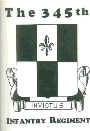 345th Regimental Crest - WWII.<br /> <br /> None in color in the History Book.