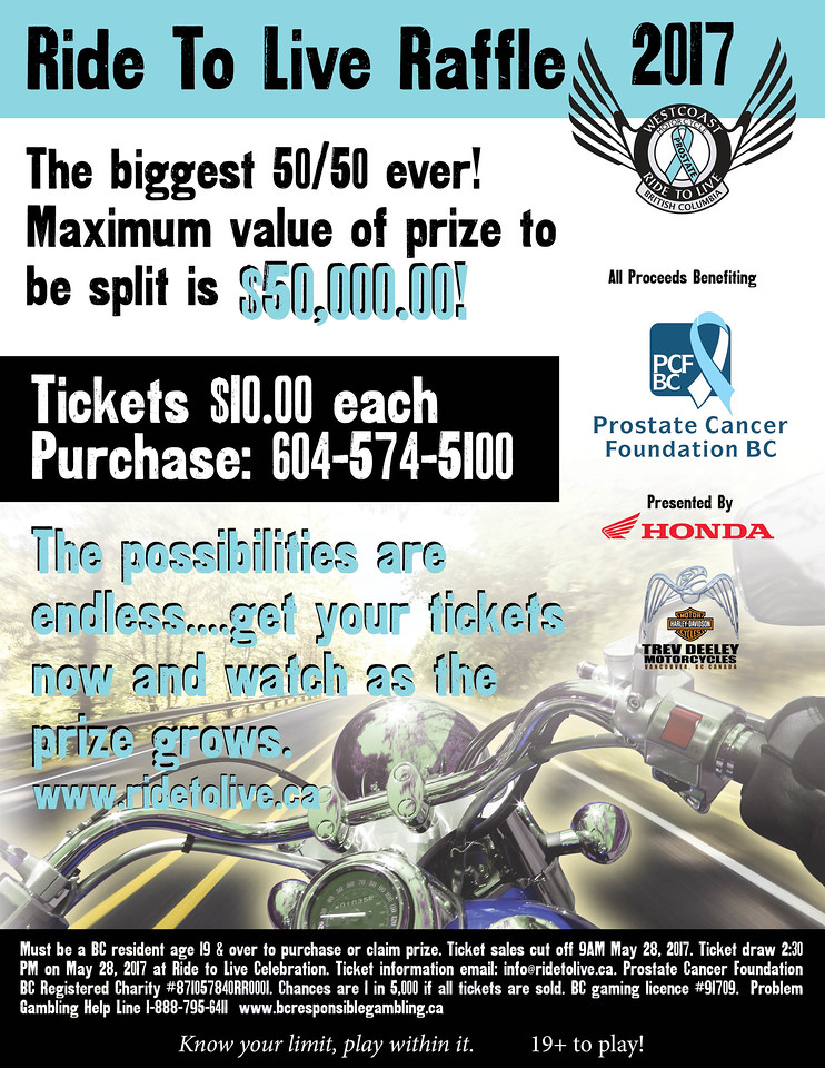 2017 Raffle Poster Ride To Live