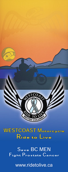 Ride to Live banner WESTCOAST Motorcycle Ride to Live Logo & Graphics By Roy Henry Vickers www.royhenryvickers.com