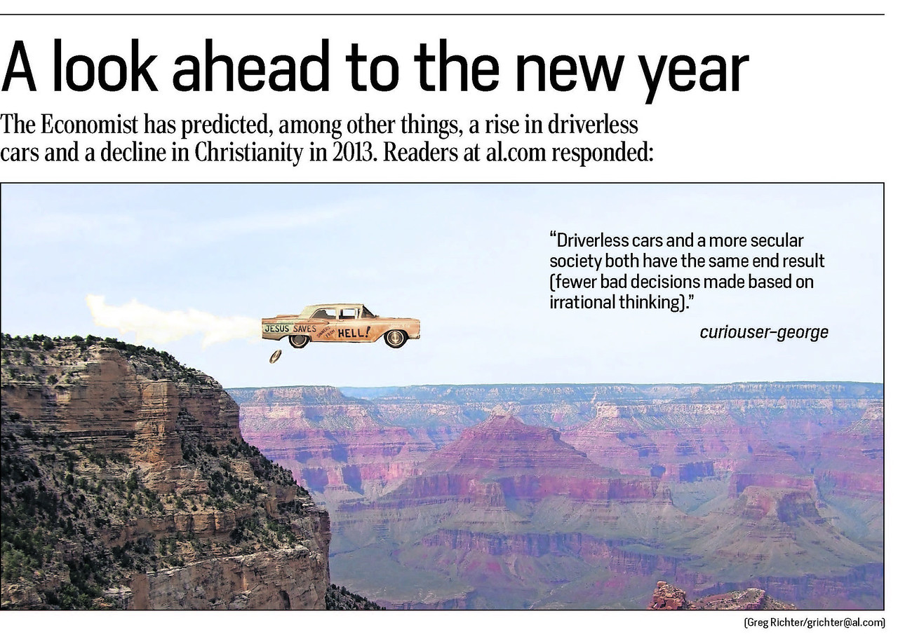 A Thelma-and-Louise-esque photo illustration for The Birmingham News, Huntsville Times, (Mobile) Press-Register.
