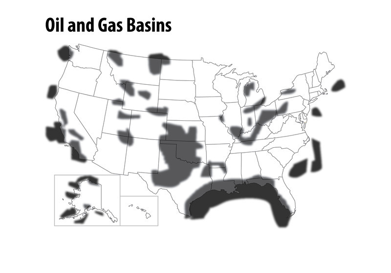 oil Gas Basins Map