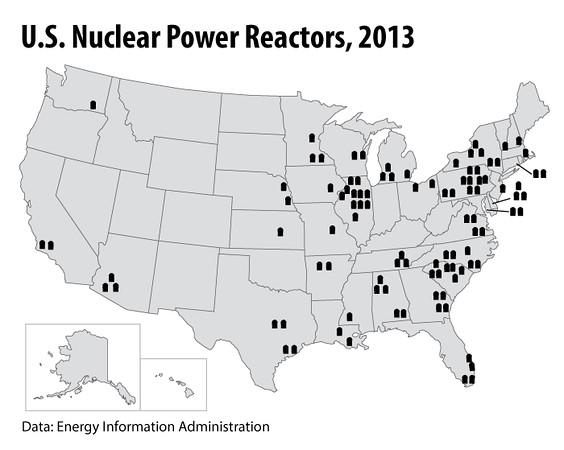 NuclearPowerPlantMap2013