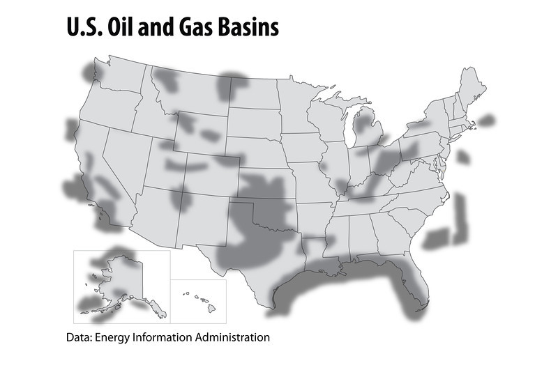 Oil Gas Basins