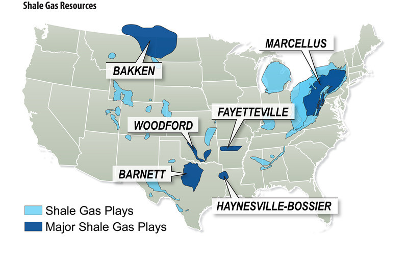 NEEDMEDIA Photo Keywords Natural Gas Gas - Map of us shale plays