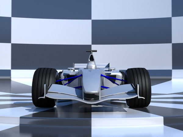 My very first render in modo after I decided to prepare all cars for rendering.