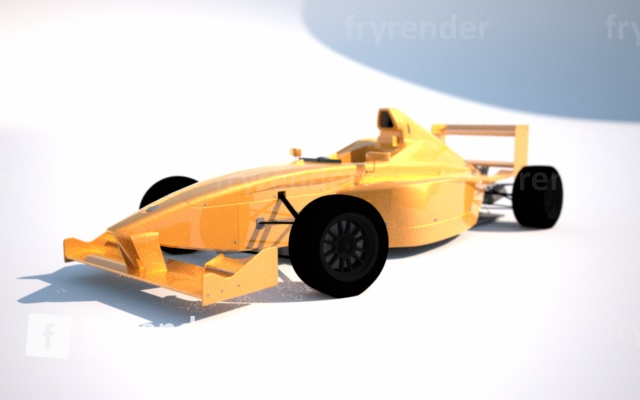 A very quick and sloppy testrendering using Fryrender, a non-biased renderer. I quickly became demotivated by the high rendertimes and therefor discarded further work. Non-biased renderers can produce very realistic results, but the calculation speed is just not for me. Perhaps some other time when computers are faster.