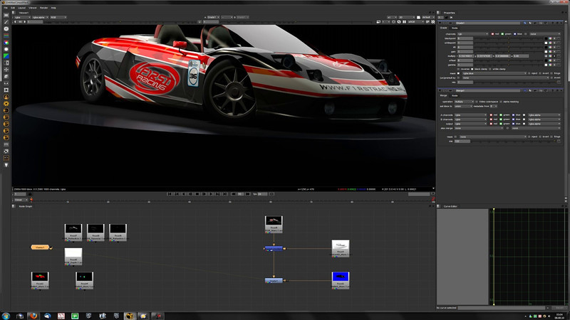 """RMS rackart362048 Timelapse Part 2/2 (Grading)<br /> <br /> A quick render as per request. I would have loved to spend more time on it, but I'm such a busy bee these days.<br /> <br /> This part shows me working in Nuke, to do some color correction work to get the tones I want, but also to tweak some of the different parts of the render, rather than spending ages doing that in the 3D app itself. I usually do a lot post work, but this render made it with somewhat simple and basic work.<br /> <br /> 27 mins. spent in total.<br /> <br /> Final result: <a href=""""http://smu.gs/mTVcHd"""">http://smu.gs/mTVcHd</a>"""