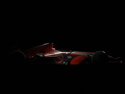 Playing with lighting and Photoshop - the car is far from done (tyres).