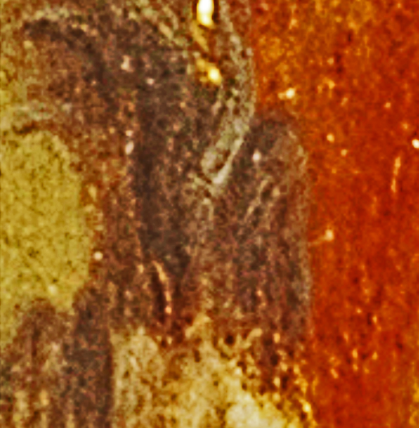 (Fig. 29) This is the previous image turned 90 degrees to the left. A number of faces can be seen in this image.