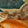 (Fig. 27) This image from the side of Marie Anne Blanchet's face is further enhanced. The devilish creature which is created from her hair is comprised of two reptilian creatures. Several small creatures appear on the right side of Marie Anne Blanchet's earring. What appears to be a normal portrait of a woman is far more complex.