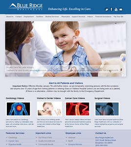 Blue Ridge HealthCare Corporate Website
