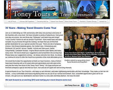 Toney Tours Website