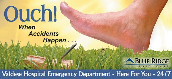 Billboard for Blue Ridge HealthCare Emergency Departments