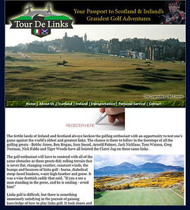 Tour De Links Golf Website Screen Capture