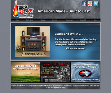 Buck Stove Corporation Web Site - Home Page