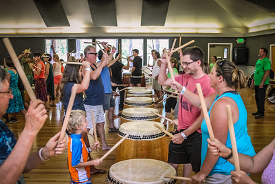 Taiko Workshop at Worldfest 2016
