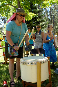 Grass Valley Taiko presented a taiko workshop at the 2017 World Fest in Grass Valley CA.