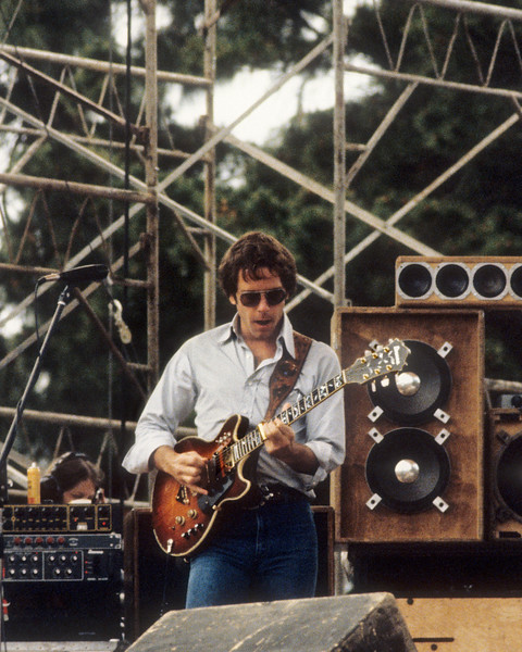 Bob Weir performing with the Grateful Dead at Spartan Stadium in San Jose on April 22, 1979.
