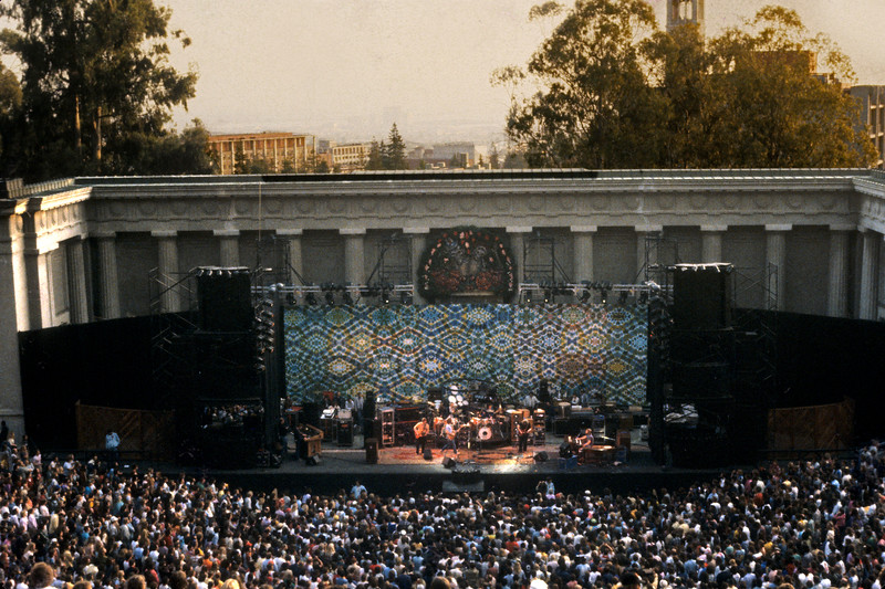 The Grateful Dead performing at the Greek Theater in Berkeley in 1983.