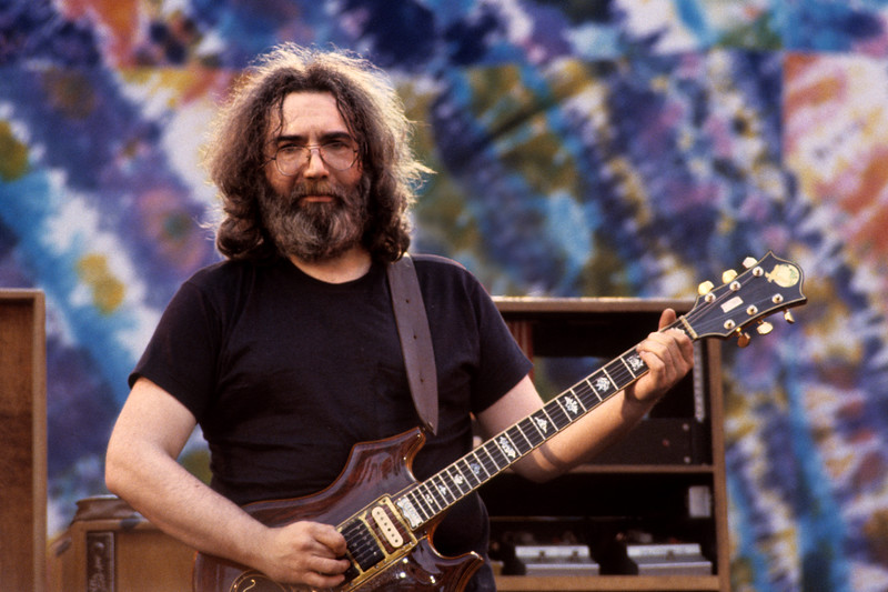 Jerry Garcia performs with the Grateful Dead at the Greek Theater in Berkeley on May 22, 1982.