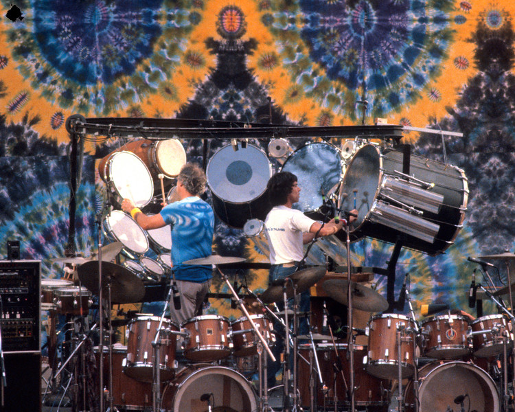 Bill Kreutzman and Mickey Hart perform with the Grateful Dead at the Greek Theater in Berkeley on September 12, 1981.