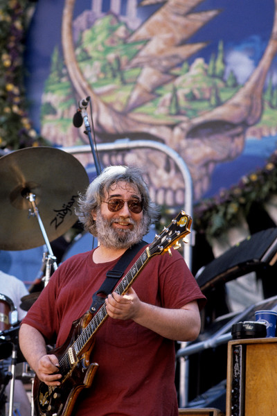 Jerry Garcia performs with the Grateful Dead at the Greek Theater in Berkeley on June 21, 1986.