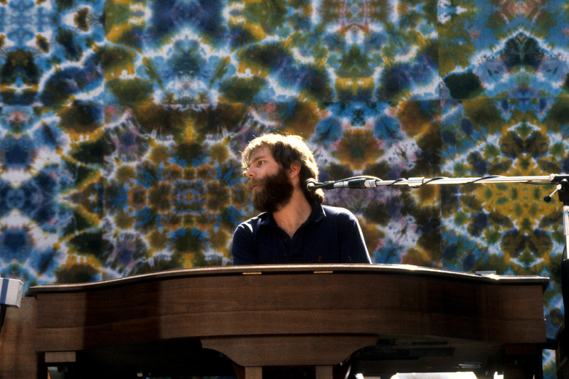 Brent Mydland performs with the Grateful Dead at the Greek Theater in Berkeley on May 14, 1983.