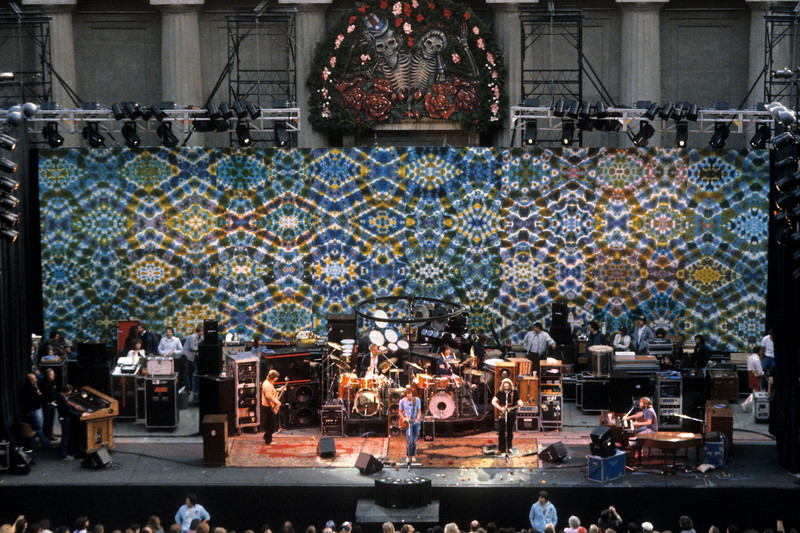 The Grateful Dead perform at the Greek Theater in Berkeley on May 14, 1983.