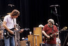 Bob Weir and Jerry Garcia performing with the Grateful Dead at the Greek Theater in Berkeley, CA on June 15, 1985.