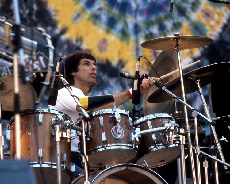 Mickey Hart performs with the Grateful Dead at the Greek Theater in Berkeley on September 12, 1981.