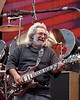 Jerry Garcia performs with the Grateful Dead at the Greek Theater in Berkeley on August 17, 1989.