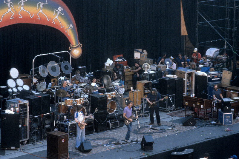 The Grateful Dead perfoming at the Greek Theater in Berkeley on July 15, 1984.