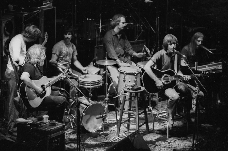 The Grateful Dead performing at the Warfield Theater in San Francisco on October 2, 1980.