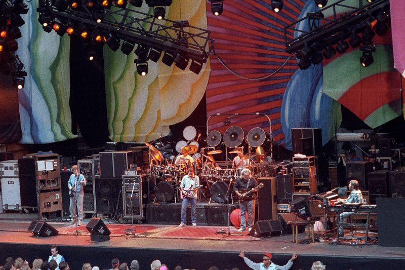 The Grateful Dead perfoming at the Greek Theater in Berkeley, CA on August 17, 1989.
