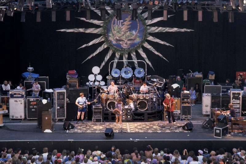 The Grateful Dead perform at the Greek Theater in Berkeley on June 21, 1986.