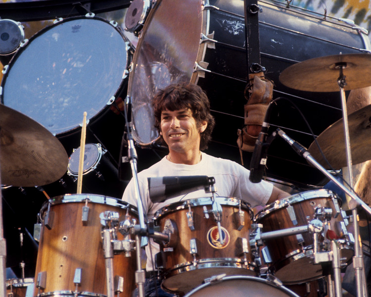 Mickey Hart performs with the Grateful Dead at the Greek Theater in Berkeley on May 22, 1982.