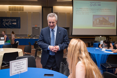 Gratitude Gala is an annual event hosted by Donor Relations, which serves as the primary method for obtaining hand-written thank you cards for scholarship donors/supporters at Trabant Multi-Purpose Rooms University of Delaware Fall 2017