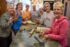 "October 30,<br /> <br /> Many hands make a task easier and more enjoyable.  Thus was the case when the request for help went out for making dog biscuits for the upcoming Alternative Gift Fair in Evergreen.  Our church is one of seven faith groups to organize and staff this wonderful two day event benefitting local and worldwide nonprofits.  Some beautiful hands and hearts gathered today to make dog biscuits to sell at the AGF Bake Sale.  It was a pleasure to work with these wonderful women.   We were fed a gourmet lunch by our resident gourmet chef,  Jacque Whyte.  It is truly a blessing to have such eager souls join in the preparations for these dog treats.<br /> <br /> Thank you to Kim Williams, Cathy Tellman, Jacque Whyte, Jackie Antweiller, Sandy Drennan, Pastor Vera Guebert-Steward, and Karen Phillipe.  We had a fun time mixing, measuring, laughing, and packaging.  <br /> <br /> I am grateful for helping hands and warm hearts.<br /> <br /> ""Wherever you turn, you can find someone who needs you. Even if it is a little thing, do something for which there is no pay but the privilege of doing it. Remember, you don't live in a world all of your own."" <br /> ~ Albert Schweitzer<br /> <br /> Peace."