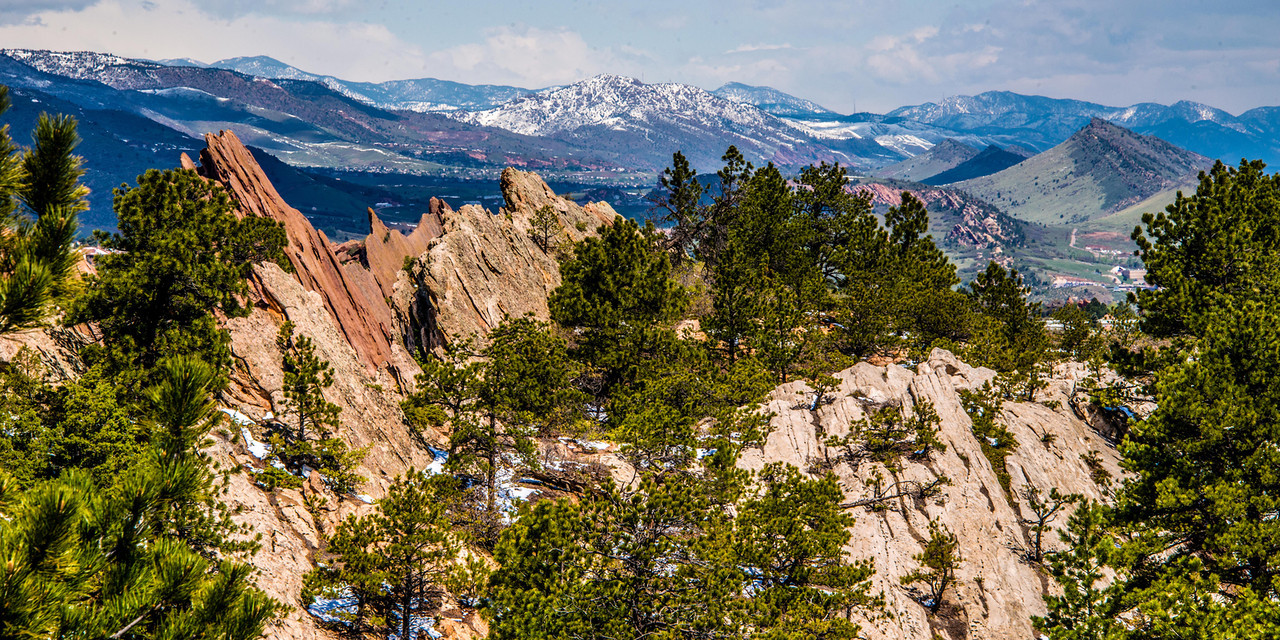 """May 15,<br /> This is one of the amazing views in Roxborough State Park  in Colorado, and it is known for its dramatic red sandstone formations. This park was established in 1975 and in 1980 was recognized as a National Natural Landmark. If you have not visited this park it is truly worth it. It is a park for all ages for it has flat trails but if one is not inclined to walk, there are numerous benches from which to take in this amazing scenery.  But you will have to leave your dogs at home.  <br /> <br /> This image was taken from the top of a trail that was easily managed.  I felt like I was in another country.  I only live about 40 minutes from this area but I was amazed at the vast contrast of colors, textures, and formations that came together for sheer magnificence.  I think I could be an ambassador to this park!<br /> <br /> We are so fortunate to have such beauty to get out and see in this wonderful country of ours. Worries can be put away or contemplated, cares can be forgotten and one can sit on a bench or stand on the trail and breathe in  gorgeousness and fresh air. <br /> <br /> """"If every single American could spend a few days a year contemplating the natural beauty which surrounds us and begs for our attention, half the frustrations and anxieties of our population would disappear overnight."""" ~ President Lyndon Baines Johnson<br /> Peace."""