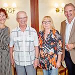 Zum 75. Geburtstag von Ludwig Krajnikar gratulierten im August Gemeinderätin Heidegund Niederer, Christine Krajnikar und Vizebürgermeister Wolfgang Kaufmann. <br /> Foto: Stadt Melk / Gleiß