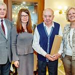Zum 90. Geburtstag von Alois Trimmel gratulierten Gemeinderat Helmut Grünberger, Tochter Gertraud Brankl und Gemeinderätin Beatrix Leeb. <br /> Foto: Stadt Melk / Gleiß