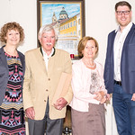 Zum 75. Geburtstag von Primarius a. D. Gernot Böhmer gratulierten im Mai Gemeinderätin Heidegund Niederer (v. l.), Milena Kos und Gemeinderat Simon Widrich. <br /> Foto: Nimo Zimmerhackl